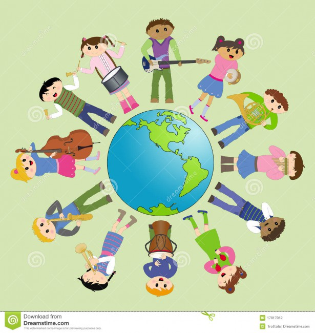 http://www.dreamstime.com/stock-photography-multicultural-children-playing-peace-image17817012